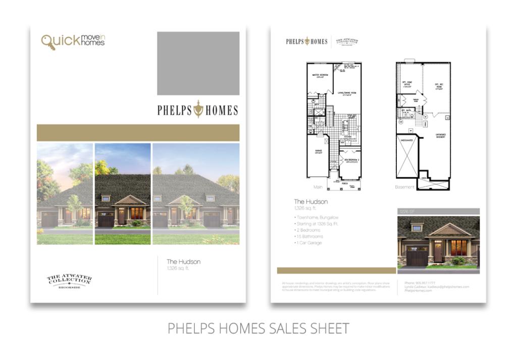 Phelps Homes Sales Sheet