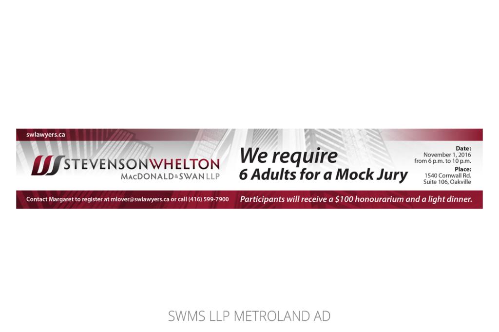SWMS LLP Metroland Ad