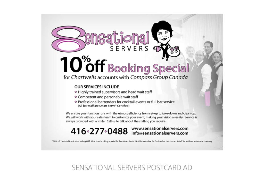 Sensational Servers Postcard