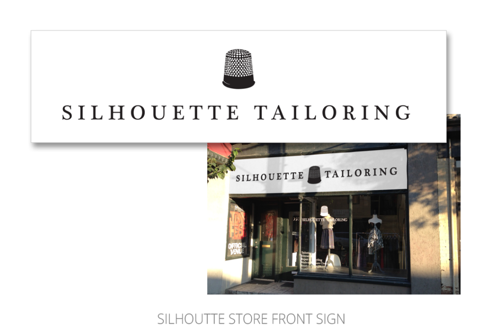 Silhouette Store Sign