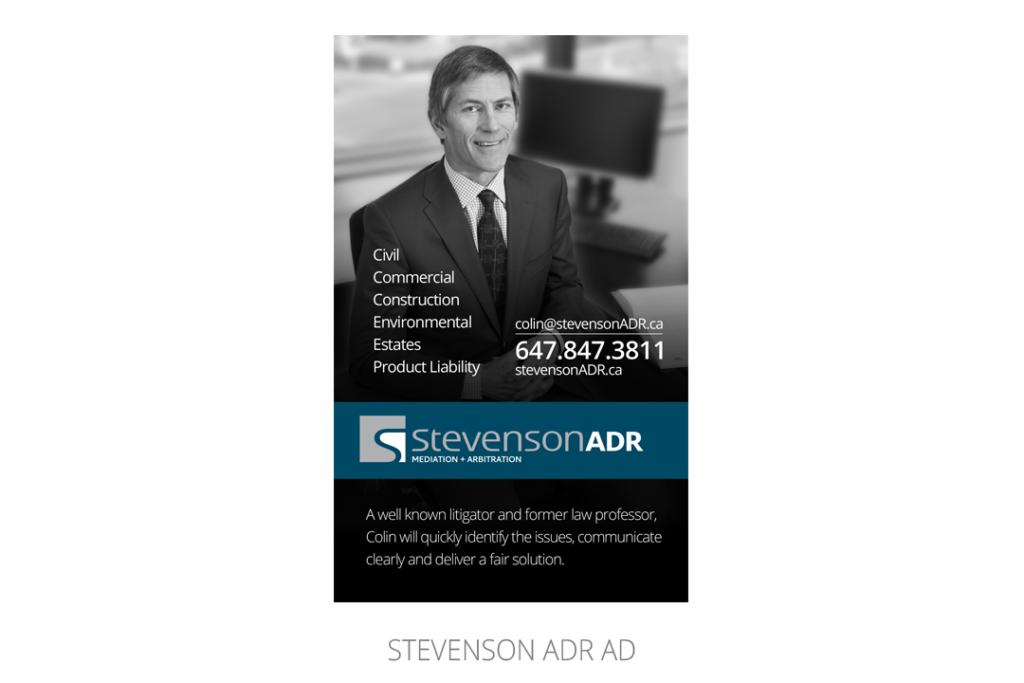 Stevenson ADR Ad