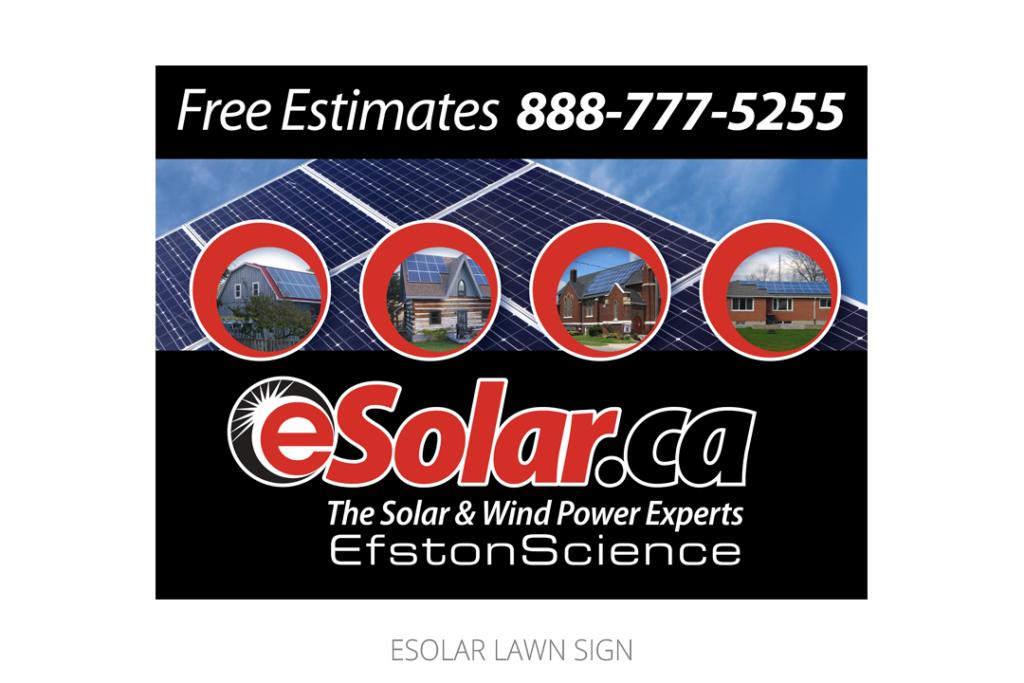 eSolar Lawn Sign