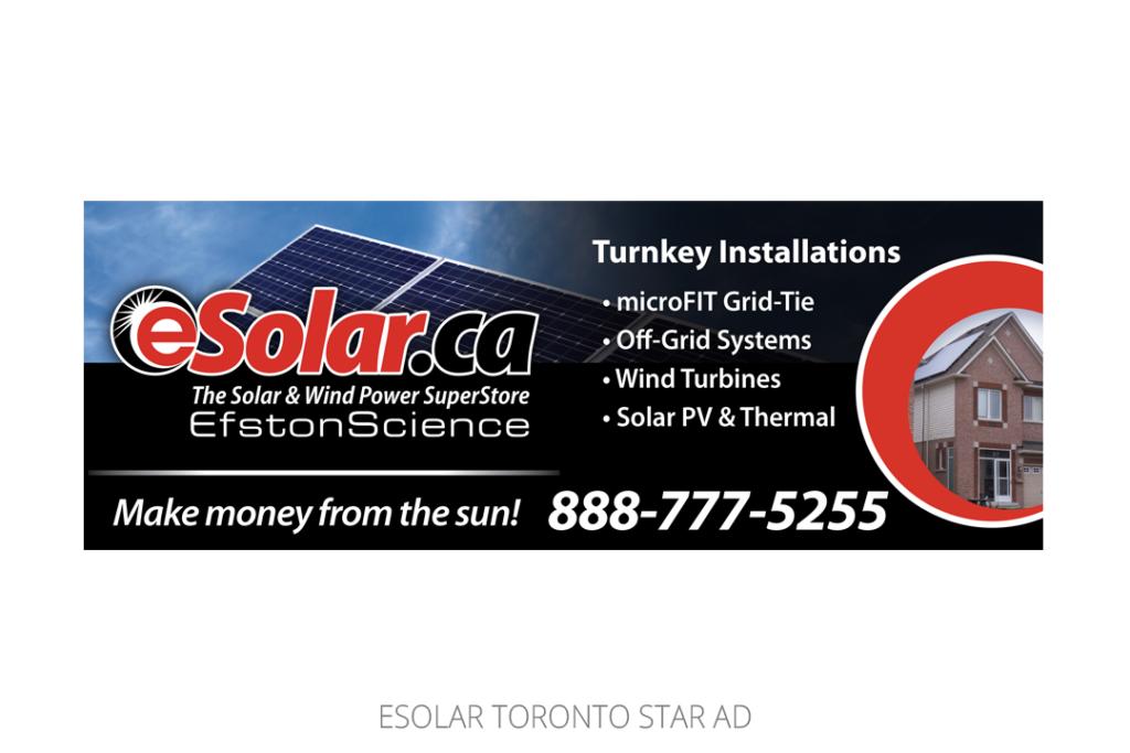 eSolar Newspaper Ad