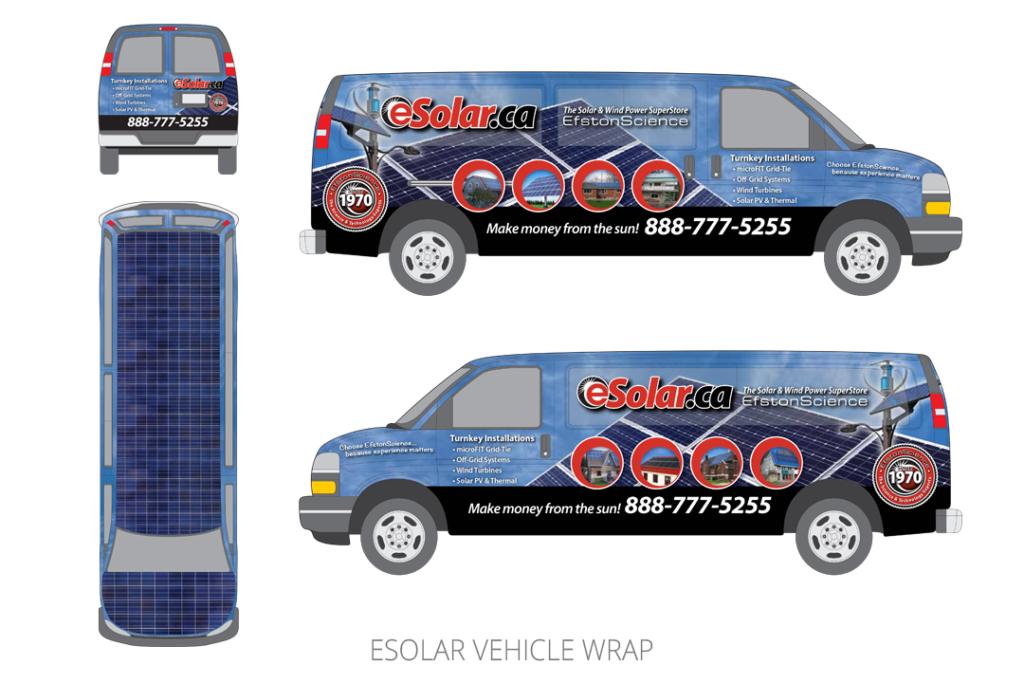 eSolar Vehicle Wrap